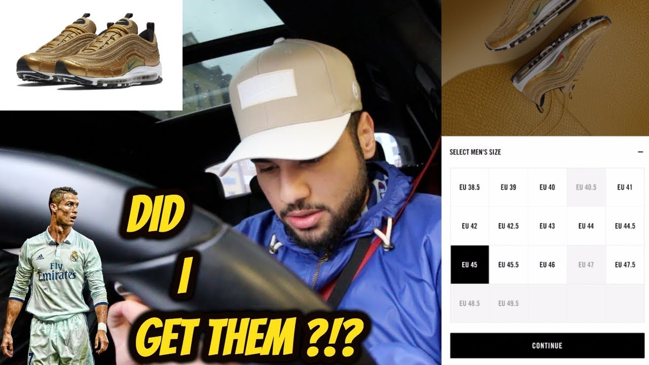 USING SNEAKRS TO BUY THE NIKE AIR MAX 97 CR7 GOLDEN PATCHWORK !!! *LIVE*