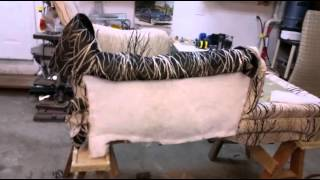 A brief and to the point video on upholstering a chaise lounge.