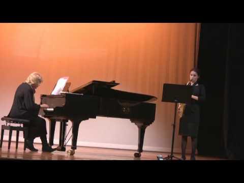 Sonata in G Minor  Bach, Alice Morgan Alto Saxophone
