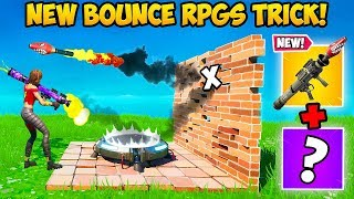 """NEW"" BOUNCING RPG TRICK IS CRAZY!! - Fortnite Funny Fails and WTF Moments! #834"