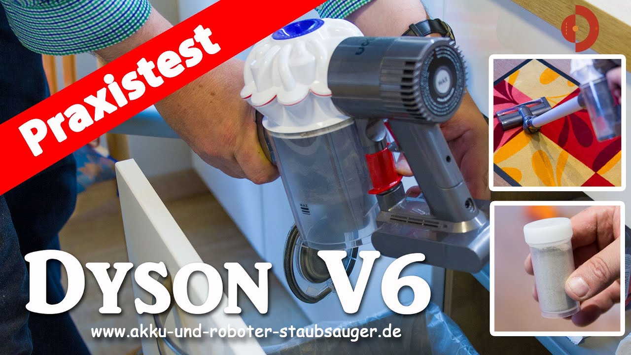 dyson v6 der akku staubsauger im test youtube. Black Bedroom Furniture Sets. Home Design Ideas
