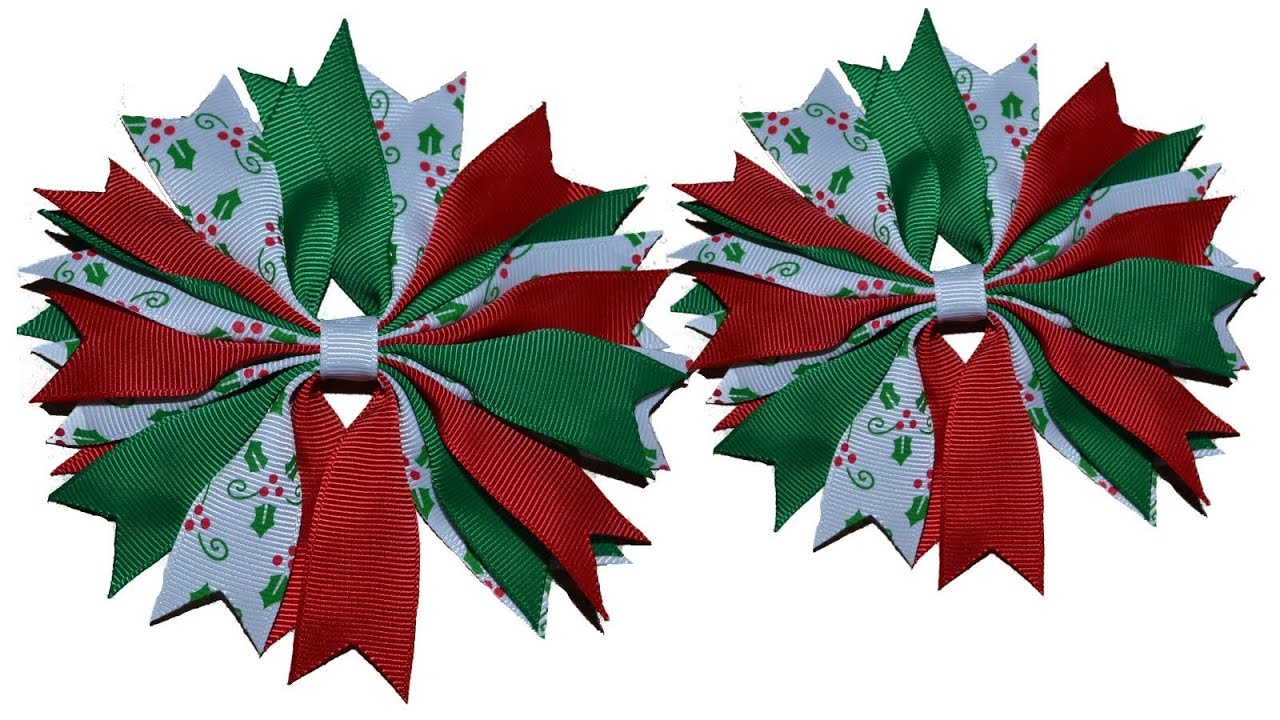 How to make a ribbon spike pinwheel hair bow tutorial youtube baditri Image collections