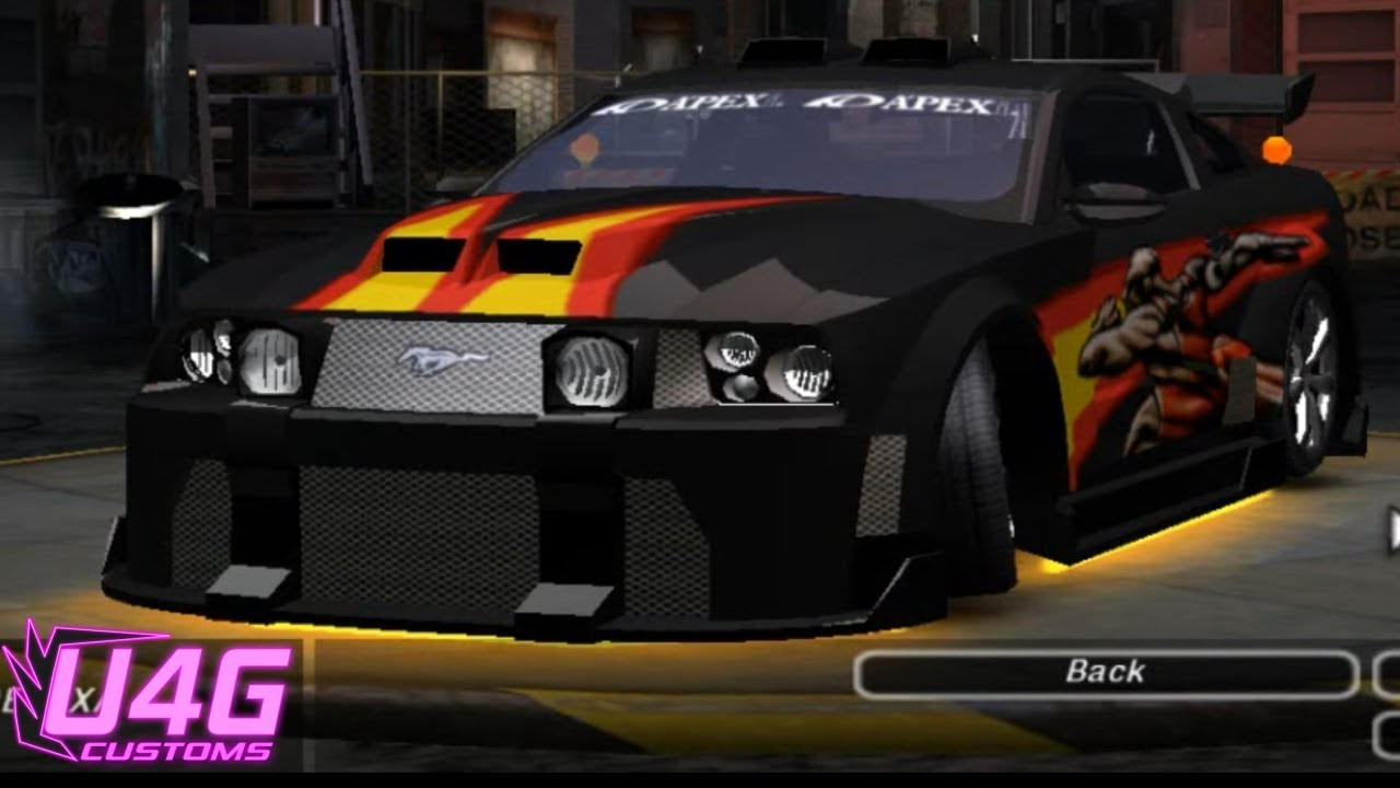 Need For Speed Underground 2 Ford Mustang Gt Customization