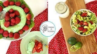 Emerald Jello Salad Vs Fresh Strawberry Salad: Making It Modern Ep 3