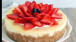 簡單芝士蛋糕食譜 (重乳酪蛋糕) |Easy Baked  Cheesecake Recipe