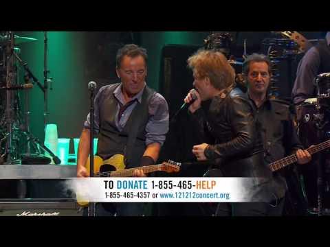 Bruce Springsteen  ft  Jon Bon Jovi ,HD, Born To Run  , Concert Sandy Relief, HD 720p