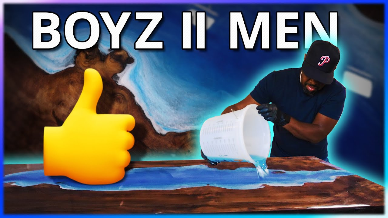 Learn To Make Epoxy River Tables With Boyz II Men And Stone Coat Countertops
