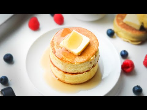 KETO PANCAKES | THE BEST Japanese Souffle Pancake Recipe For Keto | ULTRA THICK & FLUFFY!!