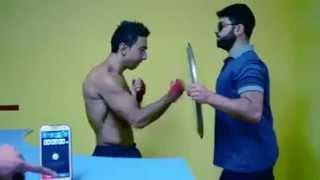 best vines Boxer Punches vs Machine Gun!