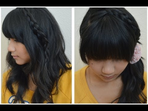 How To Japanese Inspired Summer Braided Hair Styles Youtube