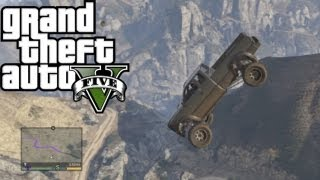 ★ GTA 5 - Downhill Off-Roading 4x4 & Stunt Jump(Here's the correct way to descend down a mountain. With a touch a style for good measure. And also how to kill a park ranger. Enjoy. ➜ Follow my livestreams ..., 2013-09-21T00:00:07.000Z)