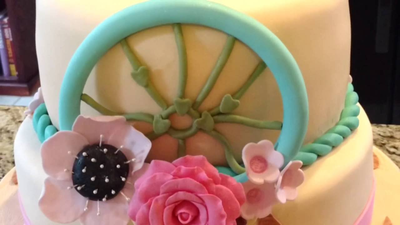 How to make fondant feathers youtube - Dream Catcher Fondant Cake