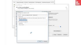 UPsite - E-mail instellen op outlook