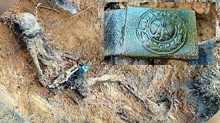 Нашли бойца в немецком обвесе . Раскопки в Рамушевском коридоре смерти