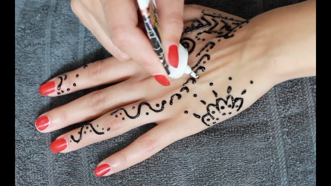 henna tattoo tutorial selber machen german youtube. Black Bedroom Furniture Sets. Home Design Ideas
