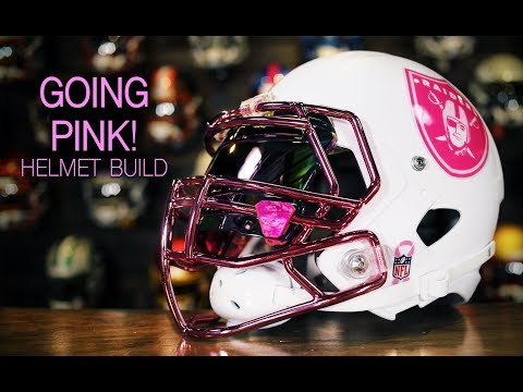 HELMET BUILD - Oakland Raiders Pink Riddell Speed With Chrome Facemask