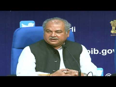 Launch of media campaign featuring Amitabh Bacchan & Sachin Tendulkar by Narendra Singh Tomar