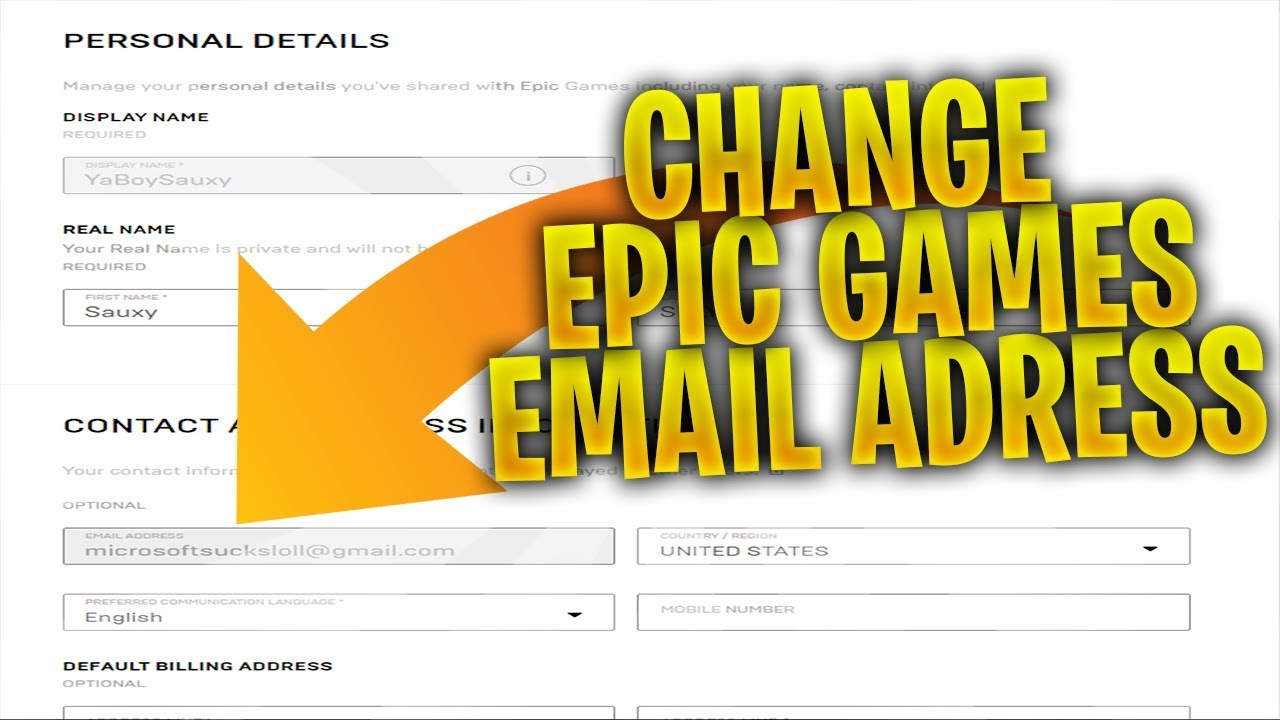 How To Change Your Epic Games Account Email Address! #EvoLRC