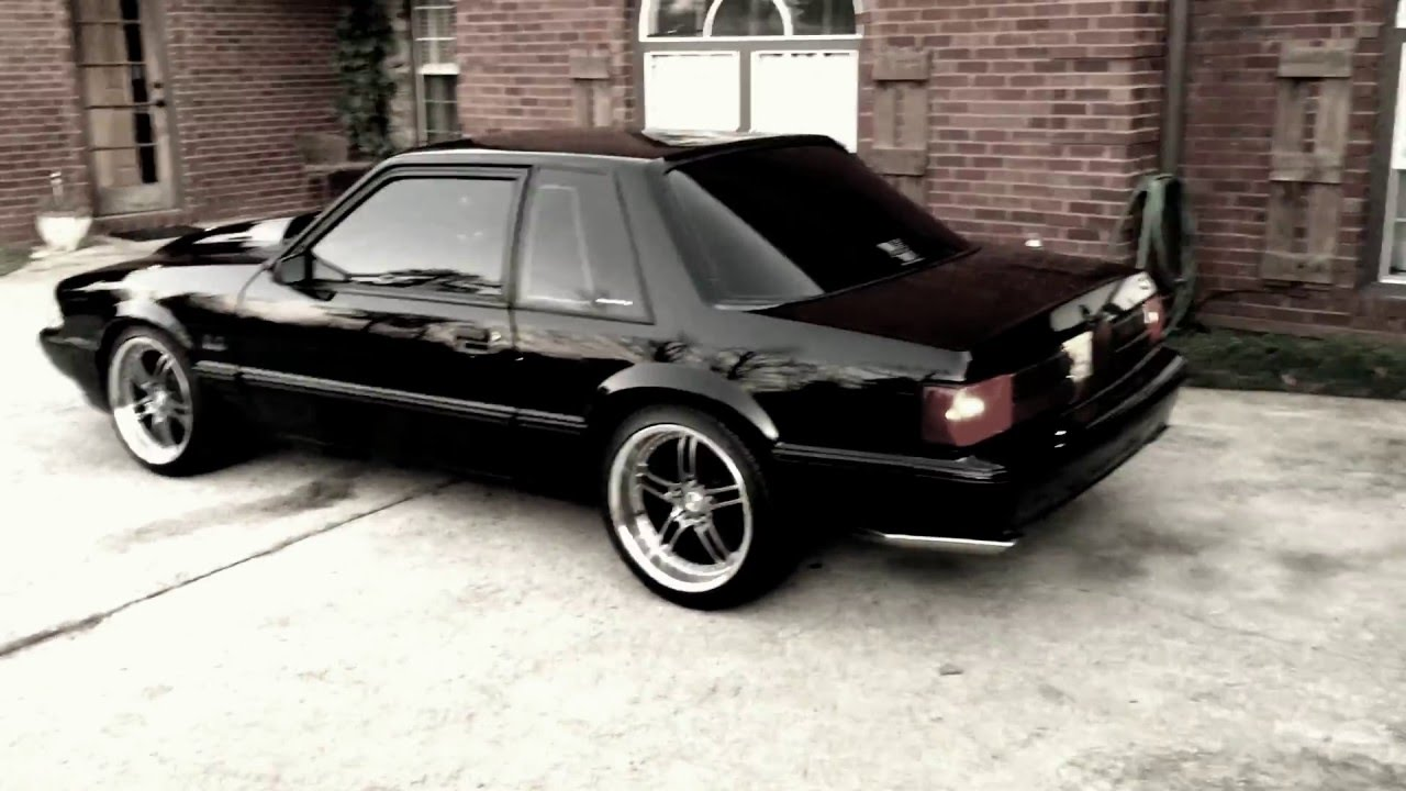 Fox Body Wheels >> Keith S 90 Mustang Lx Foxbody Coupe With Sve Series 2 Wheels Youtube