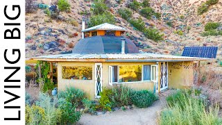 Off-The-Grid Desert Living in a Tiny Earthen Home & Permaculture Community