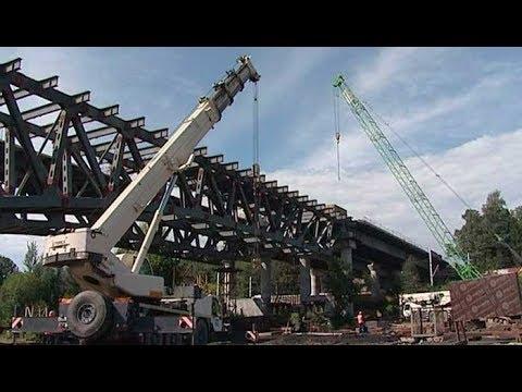 Очередной этап строительства моста на ЦКАД-3