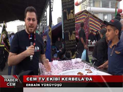 Cem TV ekibi olarak Erbain Merasimini izlemek için Kerbela'dayız
