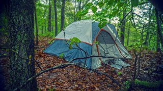 24 hours / $24 tent / in the Rain Off Grid! Completely Isolated from the World!