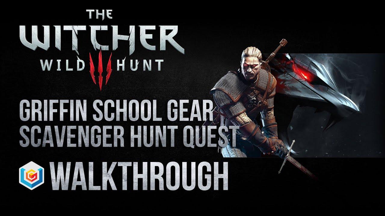 witcher wild hunt scavenger hunt griffin school gear