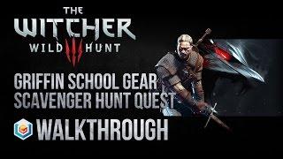 The Witcher 3 Wild Hunt Walkthrough Griffin School Gear Scavenger Hunt Quest Guide Gameplay