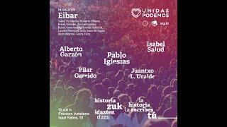 Acto de campaña de Unidas Podemos en Eibar