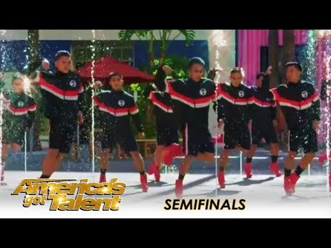 Junior New System: The HIGH-HEEL Dancing Guys WOW The Crowd | Americas Got Talent 2018