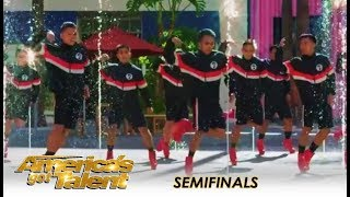 Junior New System: The HIGH-HEEL Dancing Guys WOW The Crowd | America's Got Talent 2018