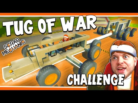 Scrap Mechanic! - TUG OF WAR CHALLENGE! Vs AshDubh - [#14] | Gameplay |