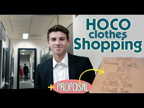 IT'S HOMECOMING CLOTHES SHOPPING + KATIE GETS A HOCO PROPOSAL