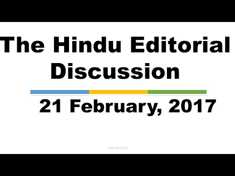 Hindi,21 February, 2017 The Hindu Editorial Discussion, New world order, South Korea  scandal