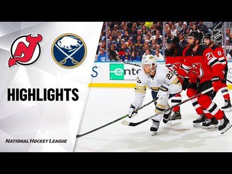 Devils @ Sabres 10/05/19 Highlights