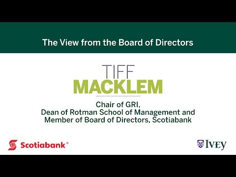 The View from the Board of Directors: Tiff Macklem