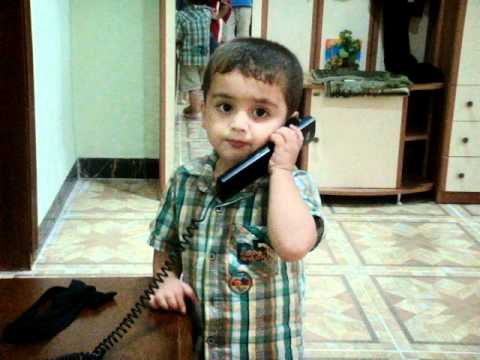 little kid talking on the phone cute