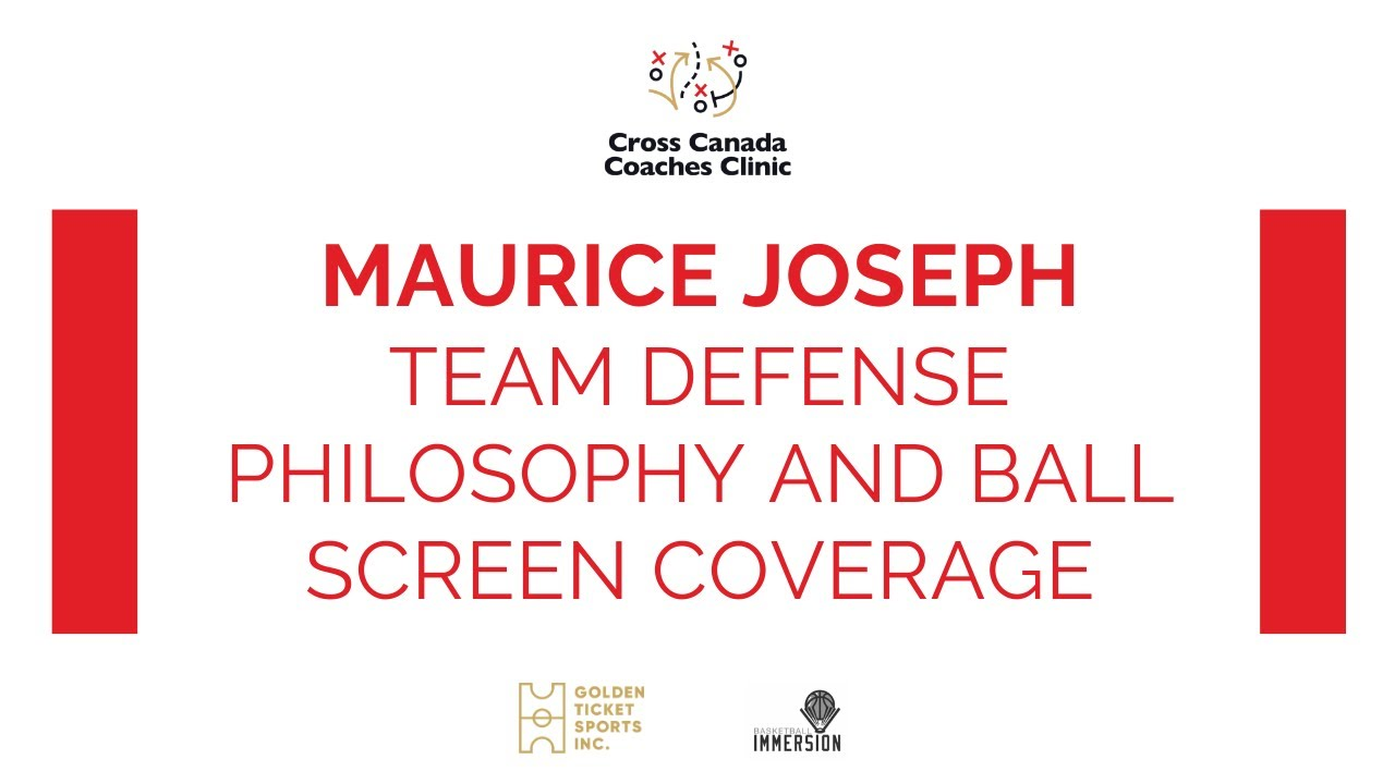 Maurice Joseph - Team Defense Philosophy and Ball Screen Coverage