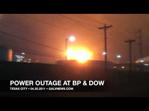 Emergency shutdown of BP refinery, Dow plant in Texas City