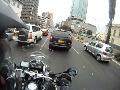Riding through Harare City Center Sept 2015