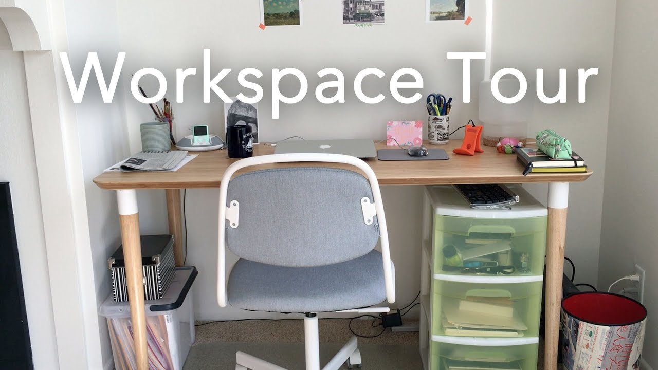 Workspace tour [freelance week day 2] youtube