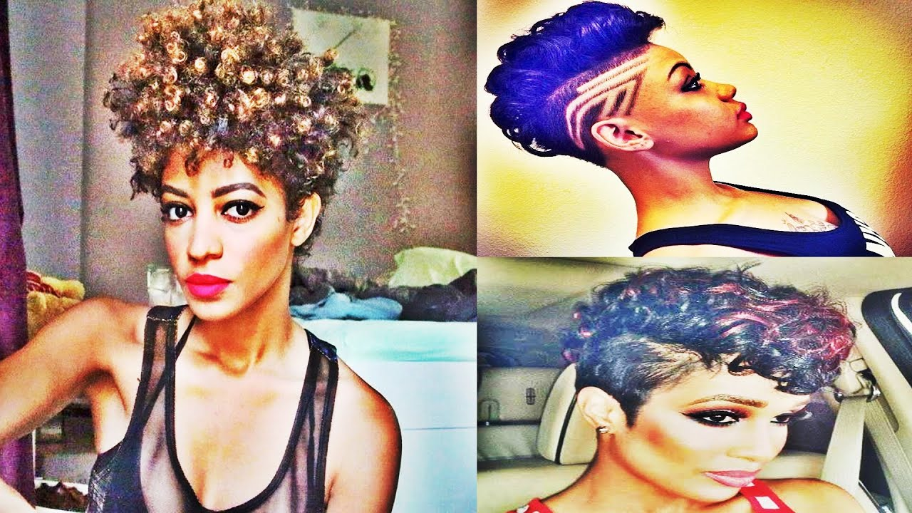 Trendy Shaved Haircut Short Hairstyles For Black Women 2016 Youtube