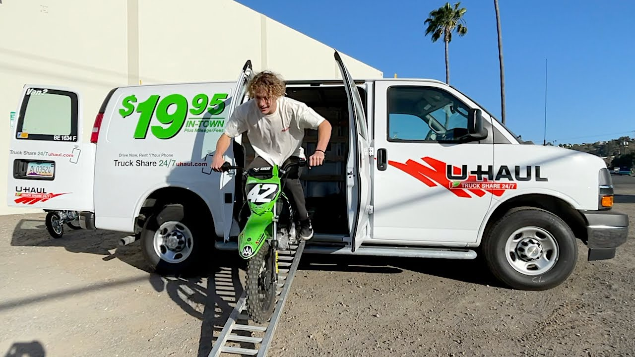 U-HAUL Rental For Dirt Bikes - Buttery Vlogs Ep97
