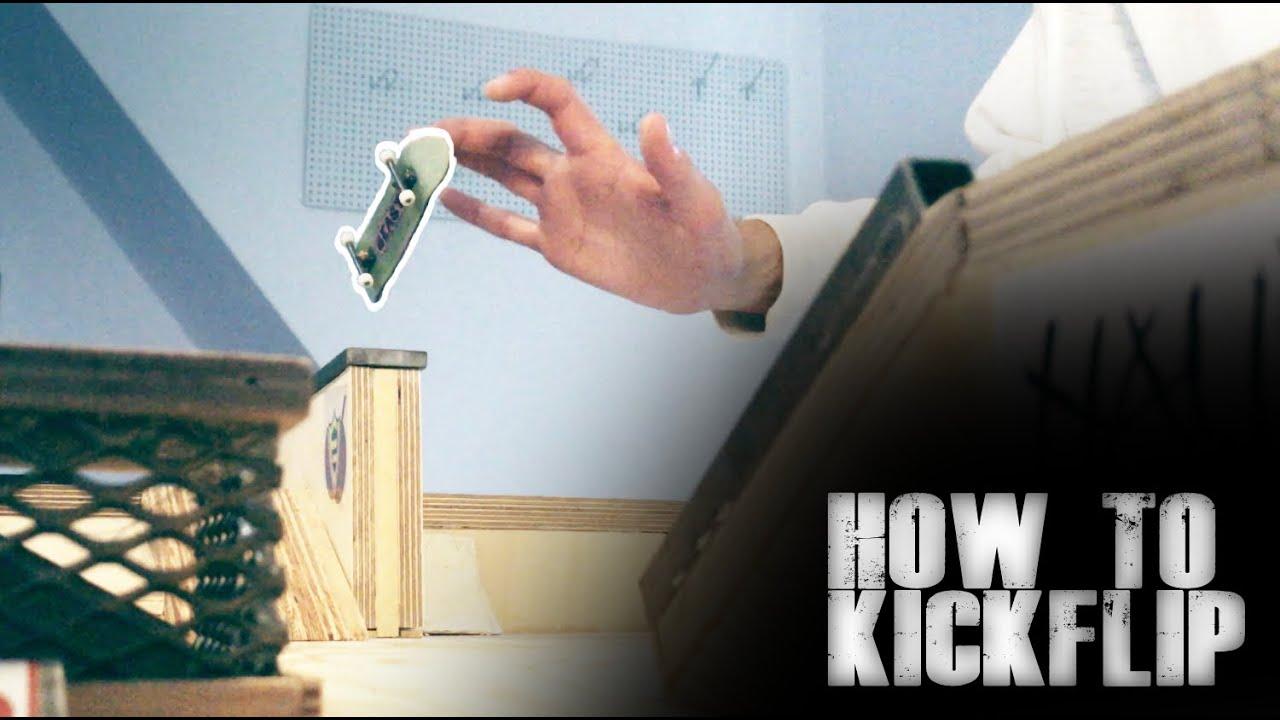 how to kickflip on a fingerboard | Detonation Decks