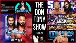 SMACKDOWN 11/20/20 Review; SURVIVOR SERIES 2020 PPV Predictions; AEW NXT Quarter Hour Ratings, More