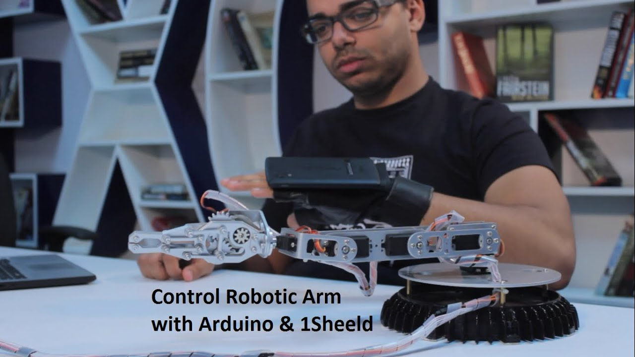 Control Robotic Arm With Your Hand Gestures Via Arduino And 1sheeld So Lets See How To Make Computer Controlled Robot For Project