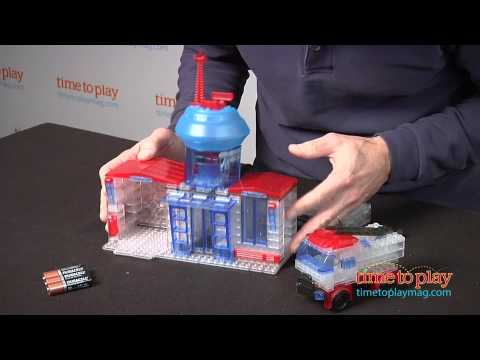 Lite Brix Lite Up Fire Station from Cra-Z-Art - YouTube
