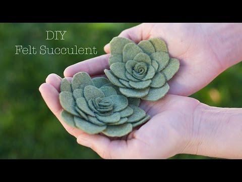DIY Felt Succulent