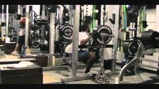 Super Bowl Champion Nfl Green Bay Packers Jarrett Bush Training Chain Squatting With Ethan Banning